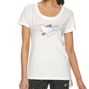 Womens Nike Triple Logo Top Graphic T-shirt